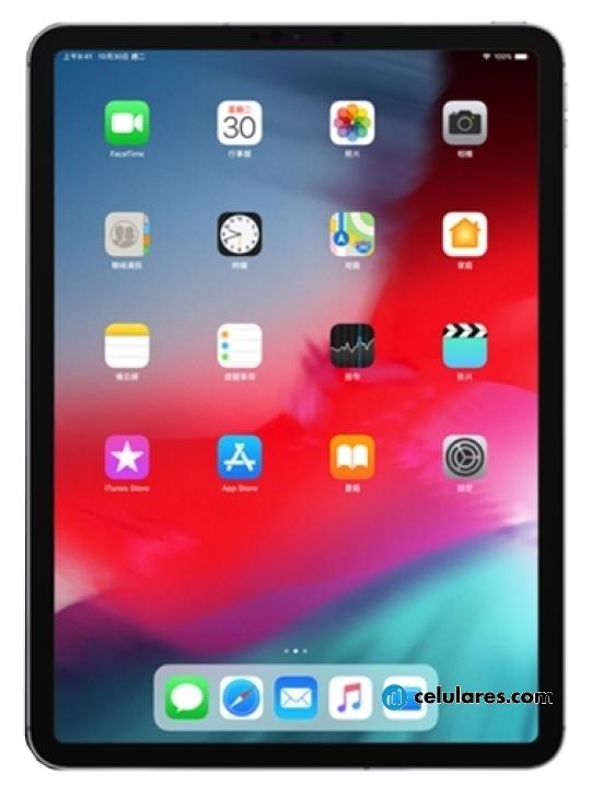 Fotografía grande Varias vistas del Tablet Apple iPad Pro 11 Plata y Gris Espacial. En la pantalla se muestra Varias vistas