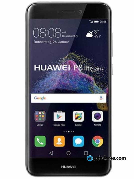 3891c5877983a Fotografía grande Varias vistas del Huawei P8 Lite (2017) Blanco y Dorado y  Negro