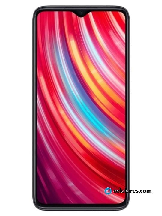 Fotografía grande Varias vistas del Xiaomi Redmi Note 8 Pro Azul y Blanco y Negro y Rojo. En la pantalla se muestra Varias vistas